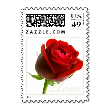 A Single Red Rose Love Stamp