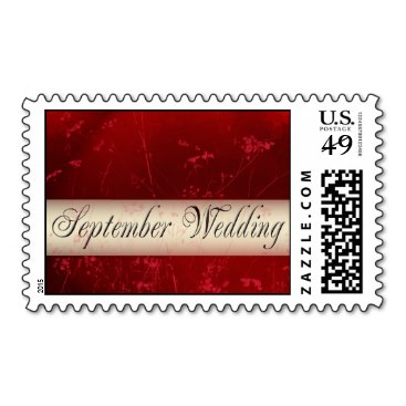 Autumn colors September Wedding postage