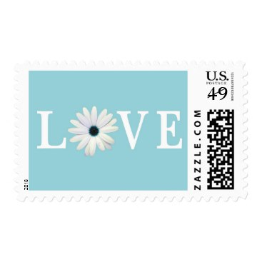Blue Love Postage Stamps