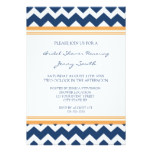 Blue Orange Bridal Shower Invitation Cards