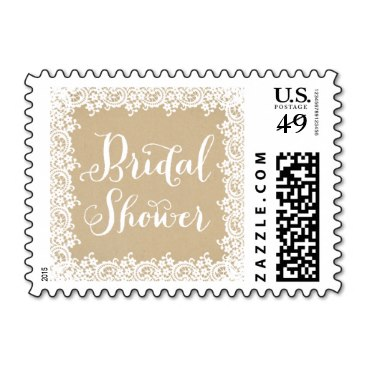 Bridal Shower Stamp | Kraft and Lace