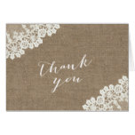 Burlap & Lace Baby Shower Thank You Cards