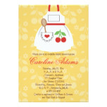 Cherry Apron Bridal Shower Invitation Yellow and R