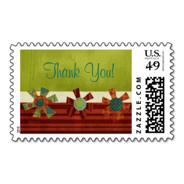 Colorful and Chic Thank You Postage Stamps