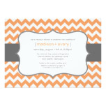 Contemporary Chevron Couples Bridal Shower Card