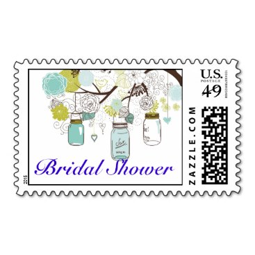 Country Rustic Mason Jar Bridal Shower Stamp