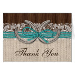 Country Western Horseshoe Thank You Cards