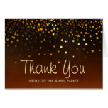 Elegant Gold Foil Sunset Clouds Thank You Card
