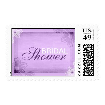 elegant purple bridal shower stamps