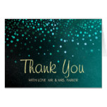 Elegant Sea Green Clouds Thank You Card