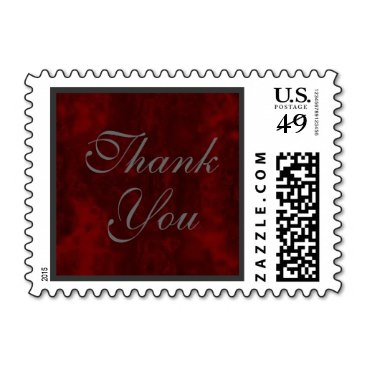 Elegant Thank You Stamps in Red