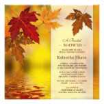 Fall Bridal Shower Invitation With Autumn Leaves