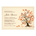 Fall Bridal Shower Invitation With Autumn Tree