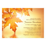 Fall Bridal Shower Invitations With Orange Leaves