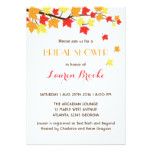 Falling Maple Leaves Autumn Invitation White