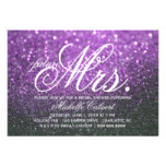 Invite - Purple Lit Nite Bridal Shower future Mrs.