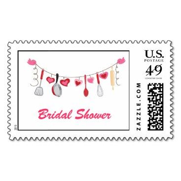 Kitchen Utensils and Hearts Stamps