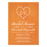 Orange Country Bridal Shower Invitations
