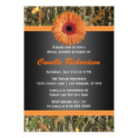 Orange Daisy Bridal Shower Invitation