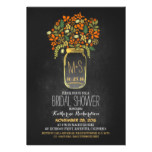 orange mason jar chalkboard bridal shower invites
