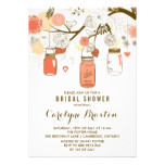 Orange Mason Jars | Bridal Shower Invitation