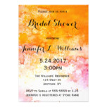 Orange watercolor bridal shower invitations