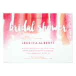 Pink Orange Watercolors Bridal Shower Invitation