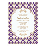 Purple and Gold Moroccan Bridal Shower Invites