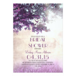 Purple old oak tree & love birds bridal shower card