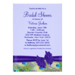 Purple Peacock Bridal Shower Card