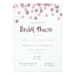 Purple & Pink Confetti Bridal Shower Invitation