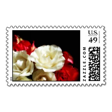 Red Rose Love Stamps- Large Postage