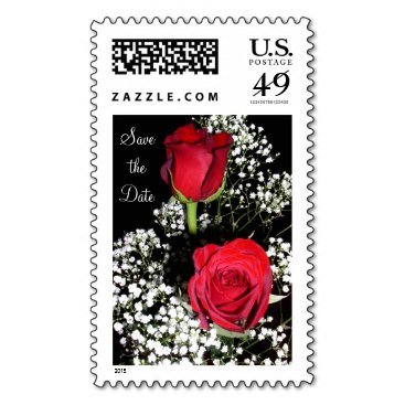Red Roses Wedding Postage - Large