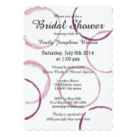 Red wine stain rings bridal shower invitations