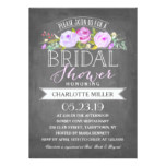 Rose Banner Bridal Shower Invitation Purple