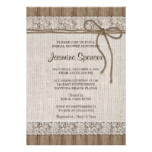 Rustic Burlap Bridal Shower Invitations