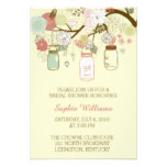 Rustic Floral and Mason Jar Bridal Shower Card
