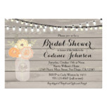 Rustic Floral Orange Yellow Bridal Shower Invite