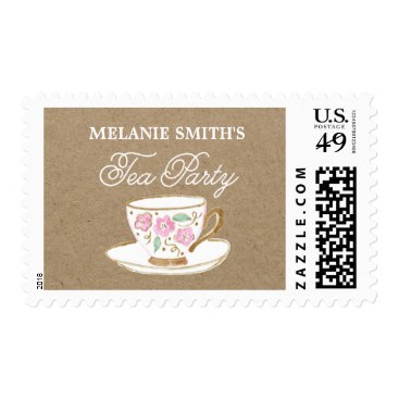 Rustic Modern Bridal Tea Party | Bridal Shower Postage