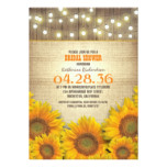Sunflowers Rustic Bridal Shower Invitations