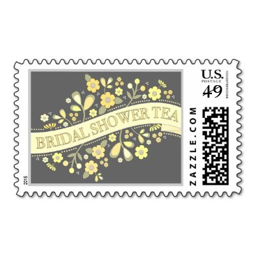Sweet Flowers Bridal Shower Tea Party Postage