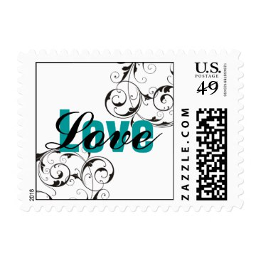 Teal Love Stamp