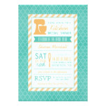 Teal Orange Retro Stock the Kitchen Bridal Shower Card