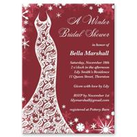 Christmas bridal shower invitations bridal shower invitation beautiful winter marsala filmwisefo