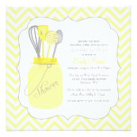 Yellow Chevron Stock the Kitchen Bridal Shower Card