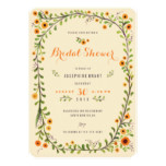 Yellow Sunflowers Floral Bridal Shower Invitations